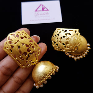 Matte Style Jhumki Earrings