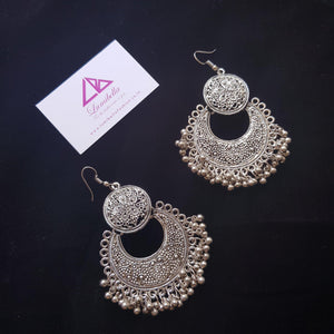German silver hook earring