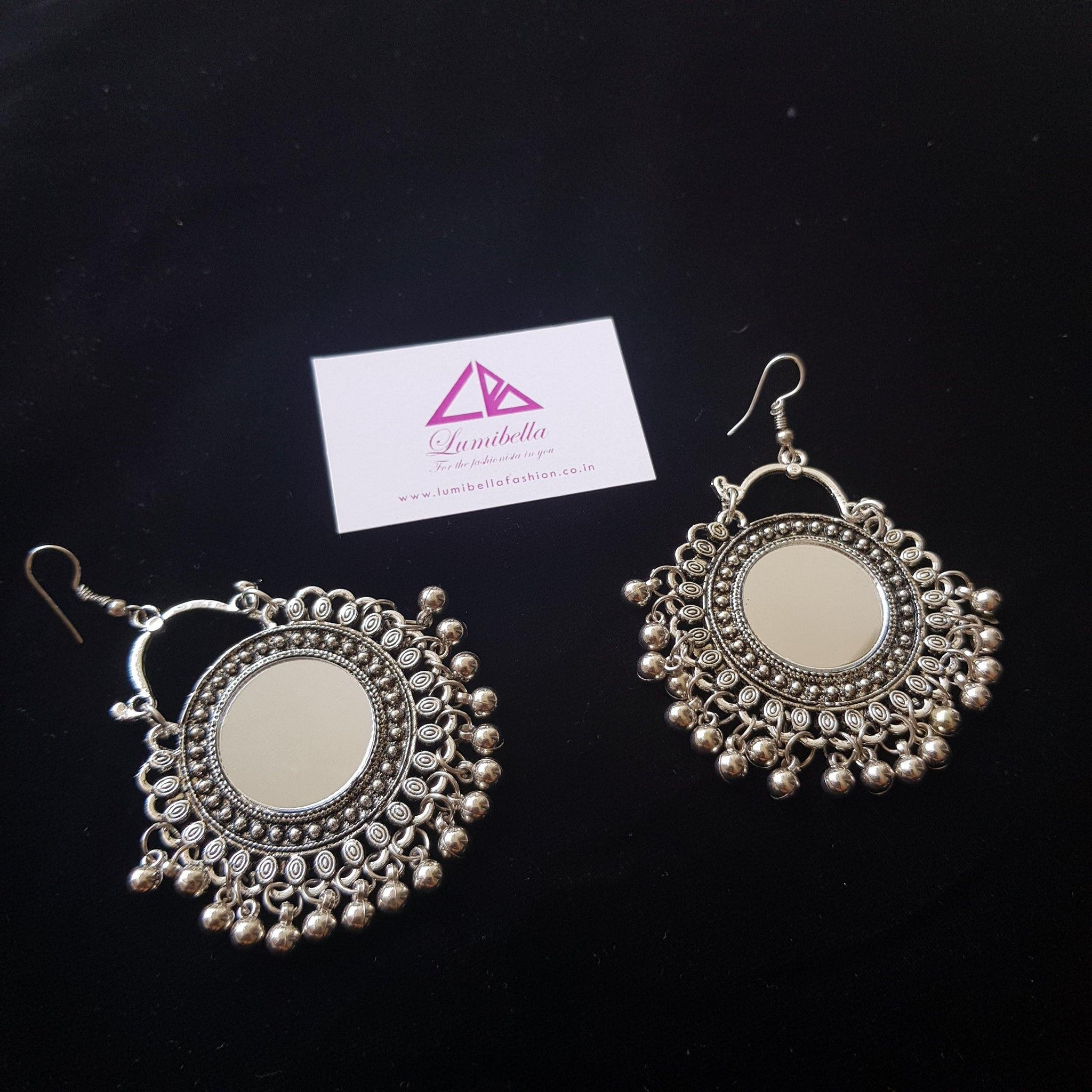 German silver hook style earring with elegant gungurus