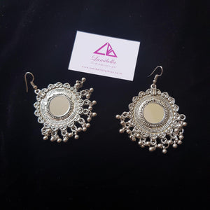 German silver hook style earring with gungurus