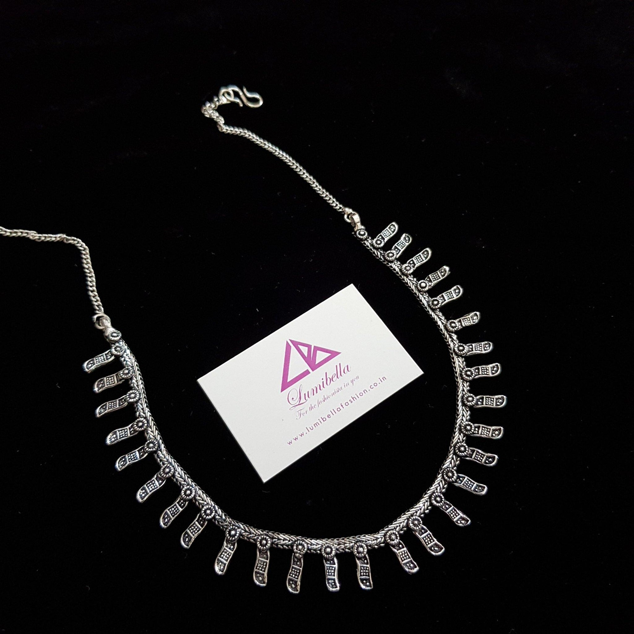German silver simple Neckset