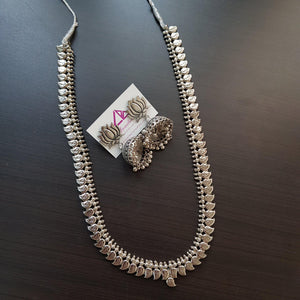 Mango Style Long German silver neck set