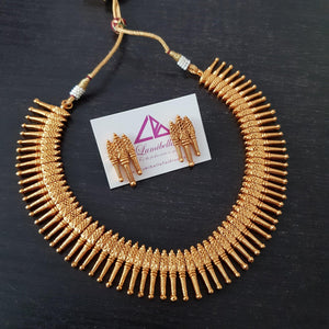 Matte Kerala Style Neckset With Earrings