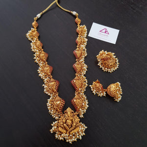 Ganesh Style Traditional Neckset with Jhumka
