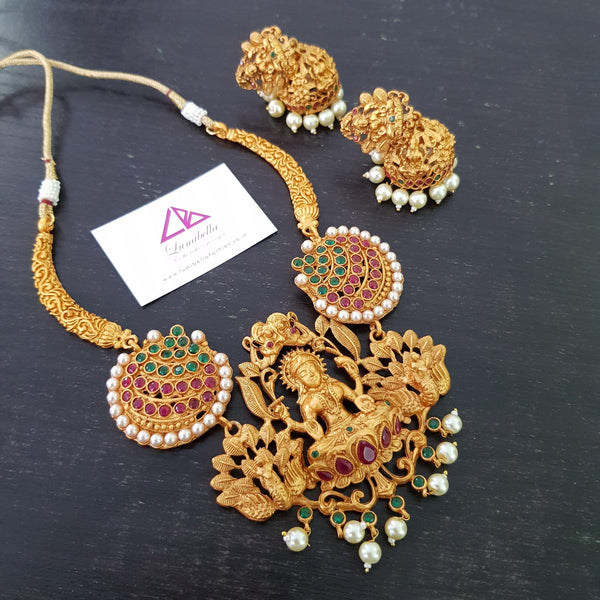 Temple Style Neckset with Jhumki Earrings