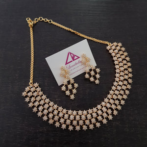 American Diamond Studded Elegant Neckset