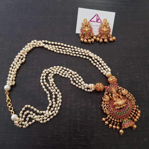 Temple Style  Pearl Neckset