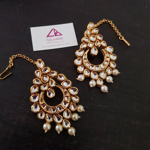 Heavy work Designer Kundan Bridal Earrings