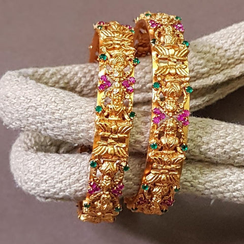 Temple Matte Style Heavy Bangles