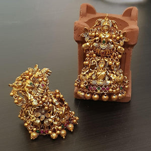 Heavy Temple Laxmi style Large Jhumka Earrings