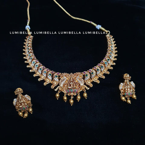 1 Gram Gold Polish Lakshmi Necklace