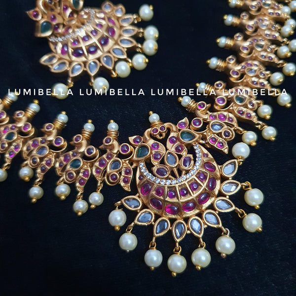 Antique Kemp Short Necklace With Chandbali Earrings