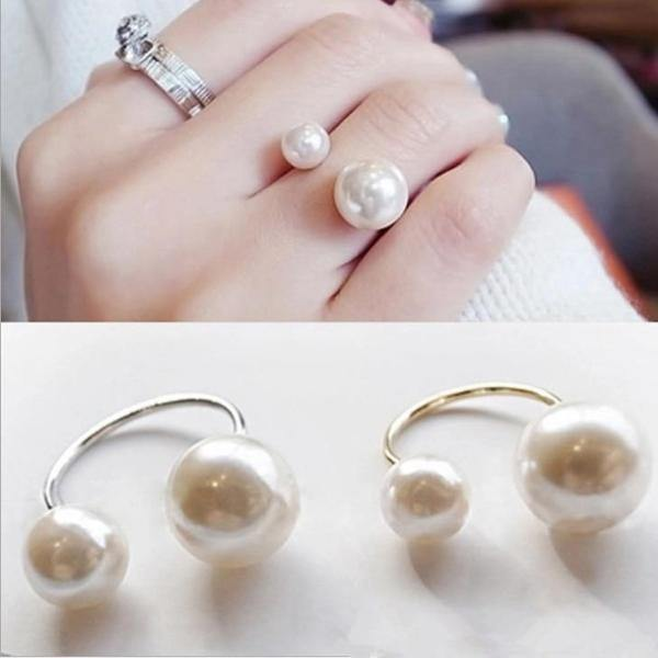 Hot Fashion women's Ring with Imitation Pearl