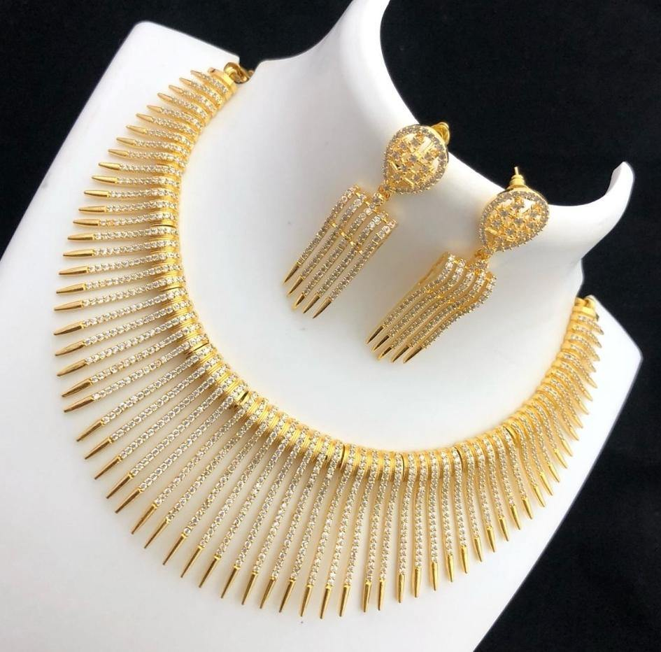 American Diamond Neck set