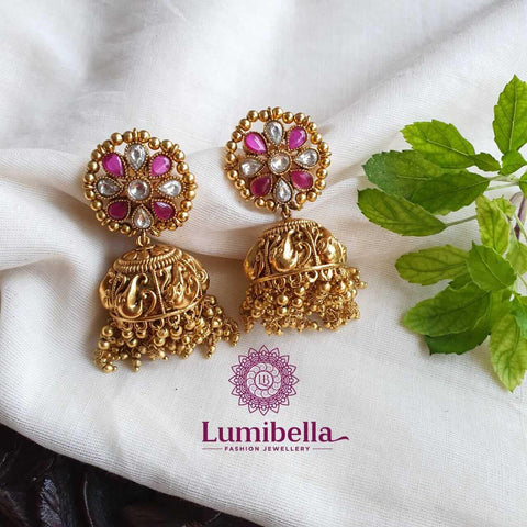 Elephant Jhumka Earrings