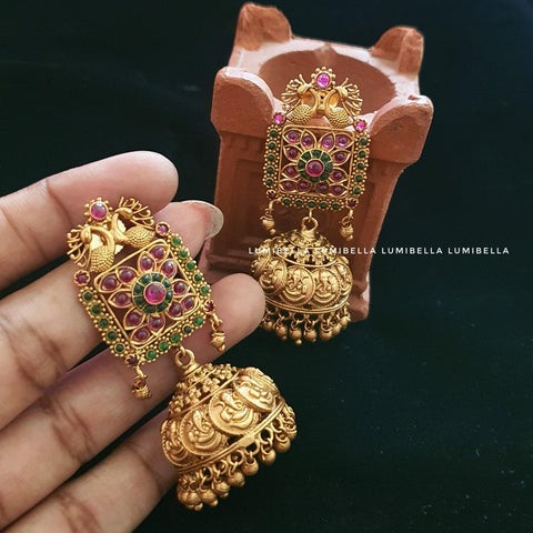 Ganesh Jhumki Earrings
