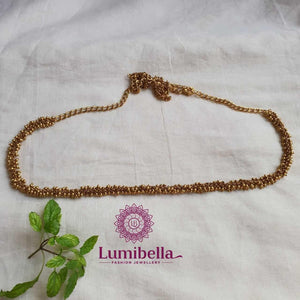 golden beads hip chain