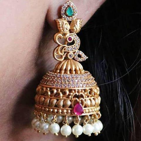 Elegant Antique Jhumki Earring