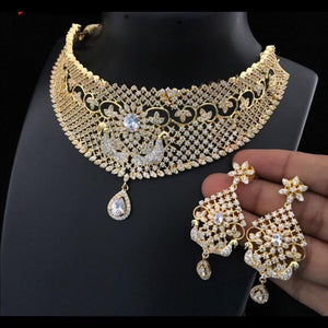 American Diamond Jewellery Choker Neckset