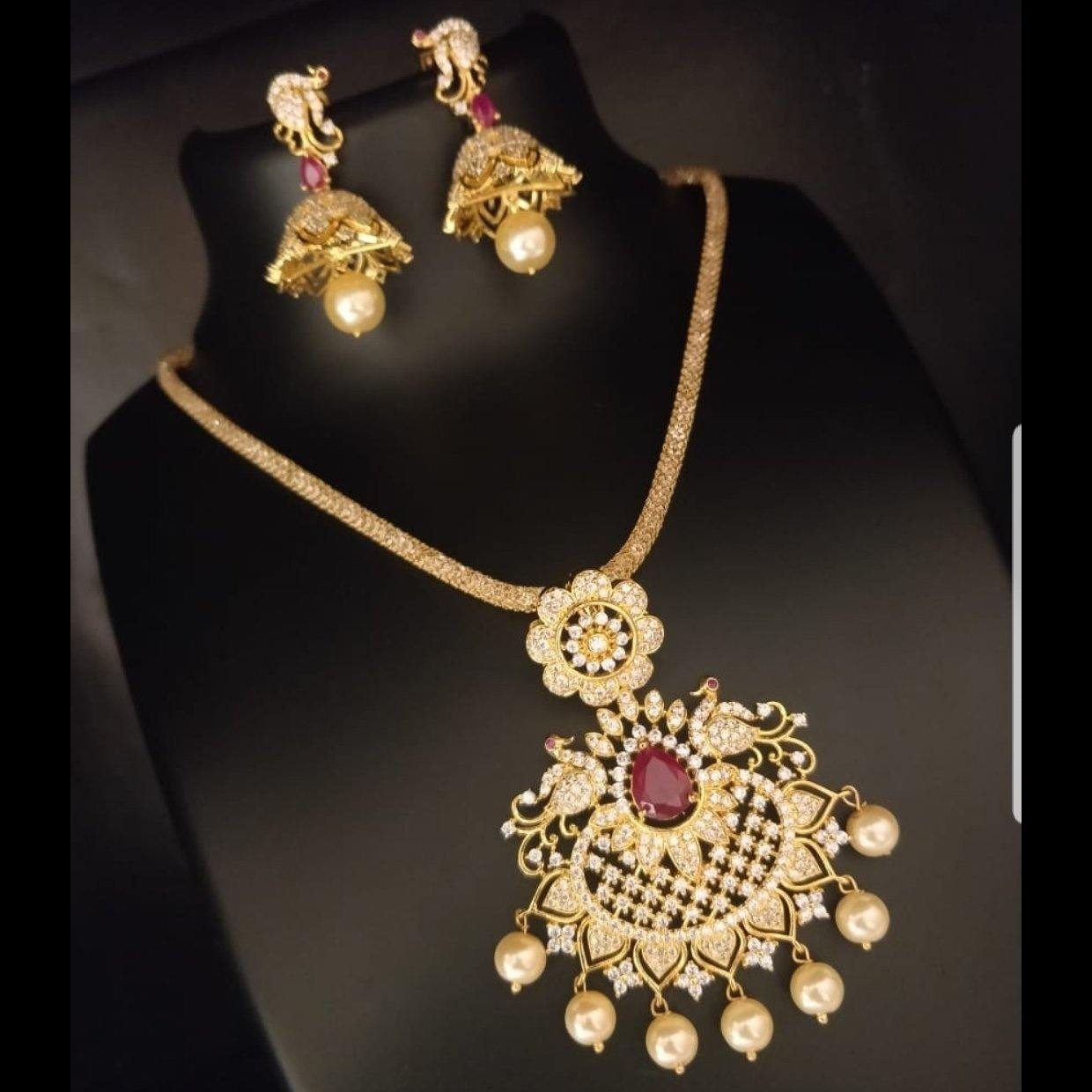 AD Style Neckset with Earrings