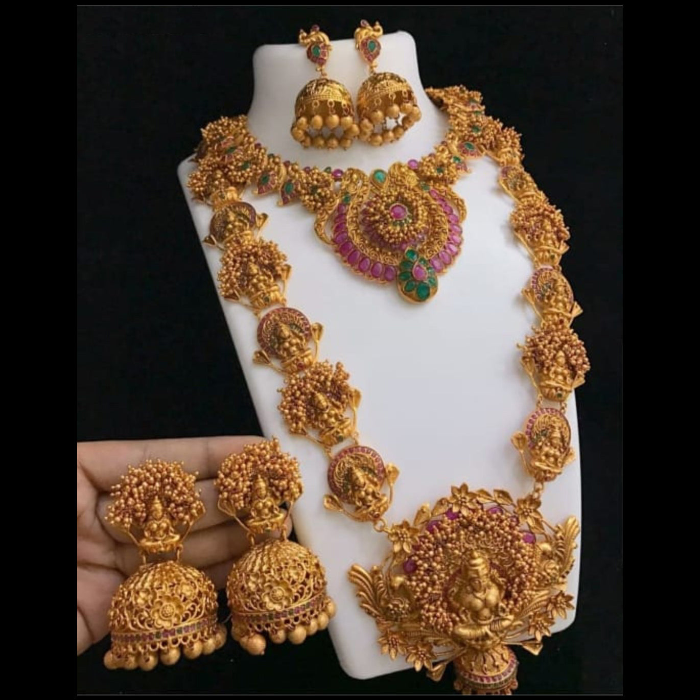 Gorgeous Temple Style Bride Set