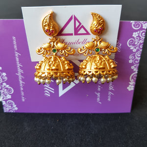 Matte finish medium size jumki earrings
