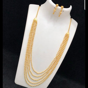Gold polish elegant neckset