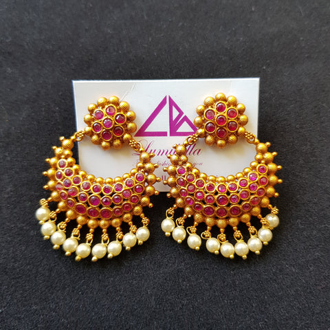 Matte Style Chandbali Earrings