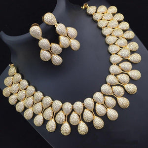 Floral Neck set with White stones