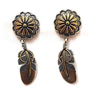 Lumibella Feather Style German Silver Drop Earrings for women