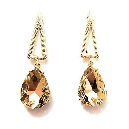 Lumibella Triangle Shaped Stone Studded Earring for women