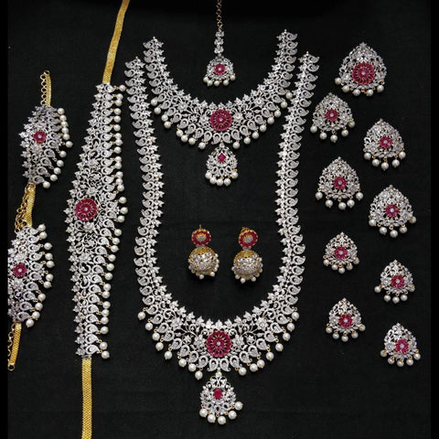 American Diamond Style Bridal Set