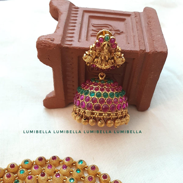 Jhumka temple earrings