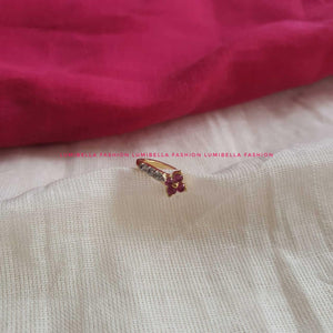 Ruby American Diamond Studded Nose Ring