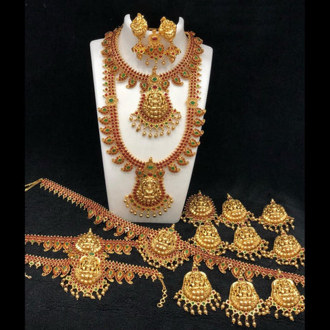 Gorgeous Antique Temple Style Bridal Set