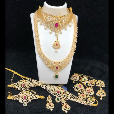 Elegant American Diamond Style Bridal Set