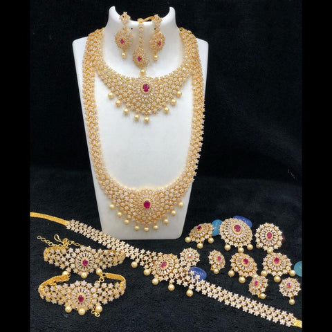 Stunning American Diamond Style Bridal Set