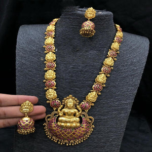 24 Inches Handwork Nagas Style Long Haram Neck set