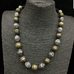 Gold and Silver Bead style Neckset