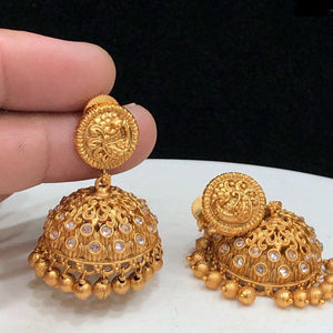 matte jhumka earrings