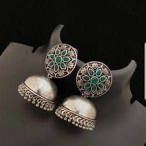 Gorgeous German Silver jumka earrings