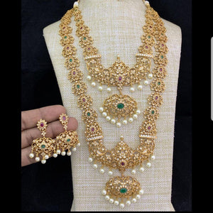 Matte Style Combo Bridal Neck set