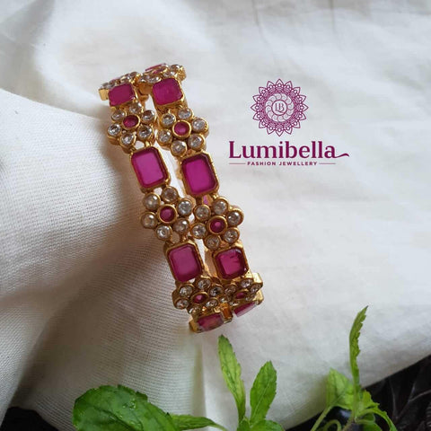 Artificial Ruby Bangles Online