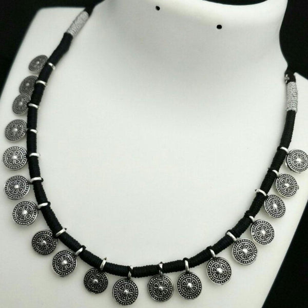 German silver simple thread style neckset