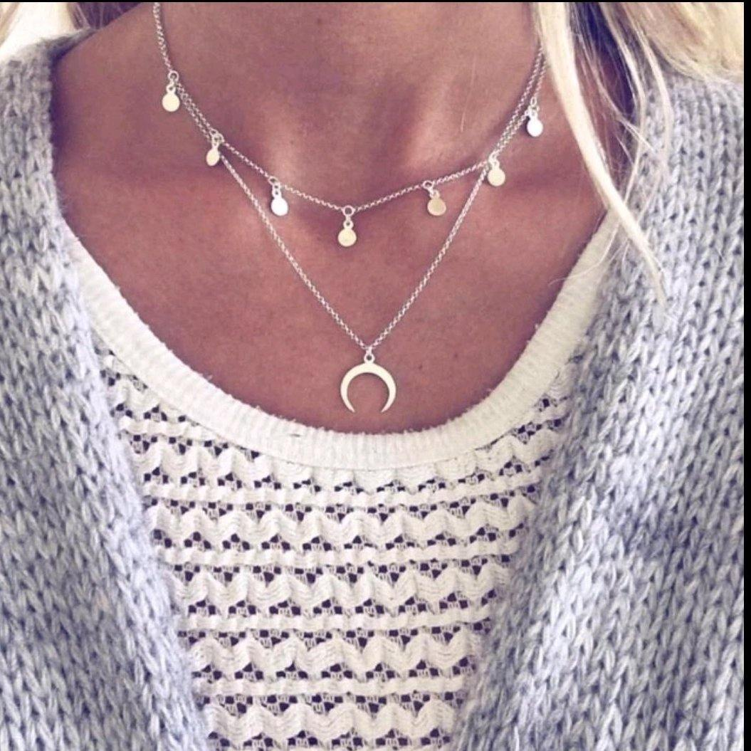 Sterling Silver Fashion Choker Neckset