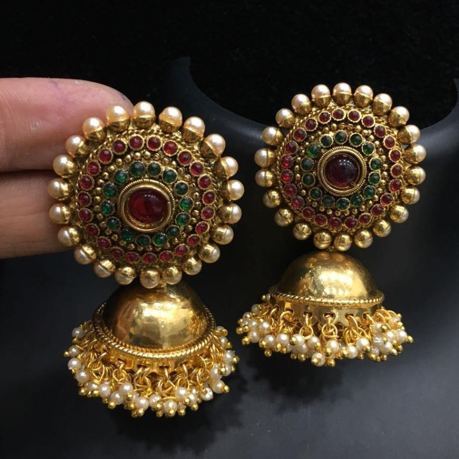 Antique Big Jhumka Jhumki Earring