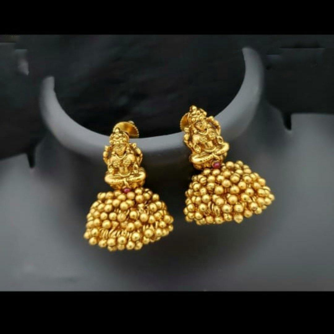 Golden Pearl Small Jhumki