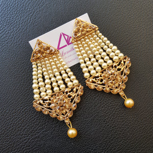 Gold Polished Long Earrings