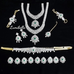 white diamond bridal set