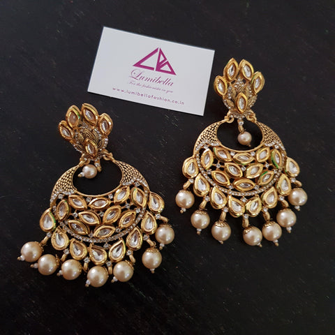 Designer Kundan Bridal Earrings